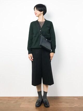 ZOZOTOWN|motoko yamamotoさんの「FORK&SPOON V/N Cotton Cardigan(URBAN RESEARCH DOORS WOMENS|アーバンリサーチ ドアーズ ウィメンズ)」を使ったコーディネート