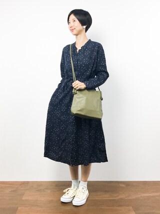 ZOZOTOWN|motoko yamamotoさんの「リネンレーヨンフラワープリント羽織りシャツワンピース(studio CLIP|スタディオクリップ)」を使ったコーディネート