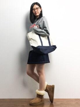 ZOZOTOWN|矢野結衣さんの「JAPANファブリックデニムSK(AZUL by moussy|アズールバイマウジー)」を使ったコーディネート