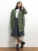 矢野結衣さんの「B.I.D/DETAILS women/springノーカラーコクーンコート(DETAILS|ディテールズ)」を使ったコーディネート