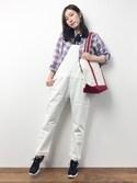 伊藤結さんの「【MORE6月号掲載】【FRENCH LINEN】ベーシックシャツ(ROPE' PICNIC|ロペピクニック)」を使ったコーディネート