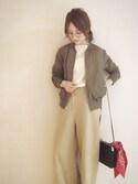 田中亜希子さんの「【manipuri/マニプリ】 バンダナスカーフ(journal standard L'essage|ジャーナルスタンダードレサージュ)」を使ったコーディネート
