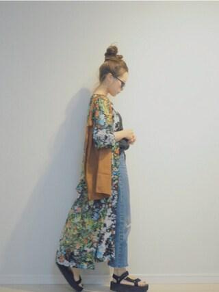 田中亜希子さんの「Anita Bilardi スエードトートバッグ(Edition エディション)」を使ったコーディネート
