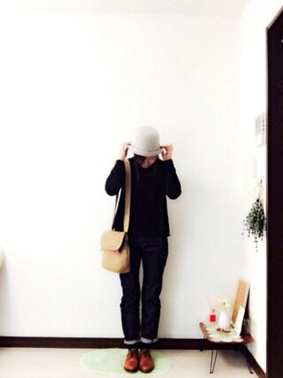 Rさんの「◇ミニ裏毛          うしろずれP.O◇(bulle de savon|ビュル デ サボン)」を使ったコーディネート