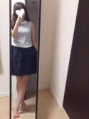 ayanaさんの「ビジューヒールフラットサンダル(RANDA|ランダ)」を使ったコーディネート