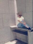 お気に入りのさわやかコーデ☆  小物で季節感をプラス(`_´)ゞ  久しぶりに履いたKariAngのスキニーはストレッチが入ってないけどなんとか履けたー‼  体型維持しないとね。。。