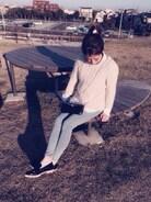 off day♡ 大好きな友人夫妻と^_^  ピクニックファッション♡♡  芝生が気持ちいぃー♩
