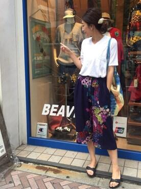 BEAVER新宿店|gondairaさんの「FANEUIL/ファヌル V NECK TEE (6002)(FANEUIL)」を使ったコーディネート