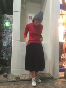BEAVER新宿店|gondairaさんの「GRANDMA MAMA DAUGHTER/グランママドーター 別注コーデュロイプリーツスカート (243)(GRANDMA MAMA DAUGHTER)」を使ったコーディネート