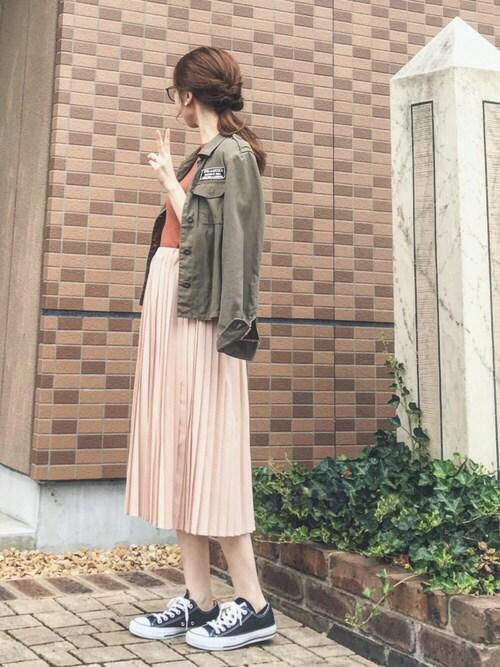 地元の神社にお参りだけ 女っぽいスカート 画像