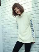 XLARGE/X-girl �~�c�b�݂� �͂邩����̃X�E�F�b�g�uCOMFY SWEAT PULLOVER�iX-girl�b�G�b�N�X�K�[���j�v���g�����R�[�f�B�l�[�g
