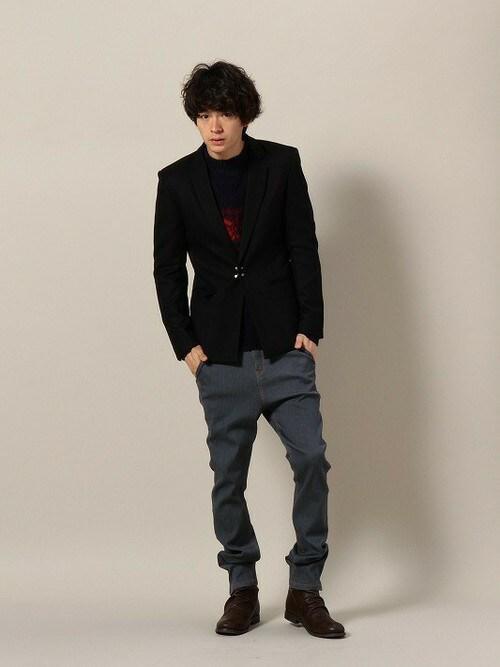 ONE DAY KMC | にっしーさんのテーラードジャケット「DETAILS 【予約】DETAILS/ ナローラペルテーラードJKT/HOOK」を使ったコーディネート