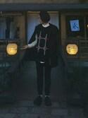 「Raf Simons Patterned Wool-Blend Vest(Raf Simons)」 using this K looks