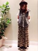 mei♡さんの「リバーシブルロングスカート(INTERPLANET WINGS インタープラネットウィング)」を使ったコーディネート