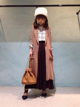 INTERPLANET 堺北花田店|mei♡さんの「ツイルガウンJK(actuel|アクチュエル)」を使ったコーディネート
