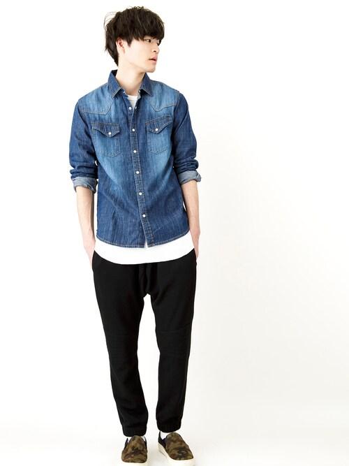 WEGO | WEGOさんのシャツ/ブラウス「WEGO WEGO/◆デニムウエスタンシャツ」を使ったコーディネート