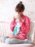 「Pink Finn sweater(Mr. GUGU & Miss GO)」 using this Mr.Gugu&MissGo looks