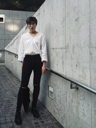 「40タイプライターBIGスキッパーシャツ#(JOURNAL STANDARD)」 using this MichelleC looks