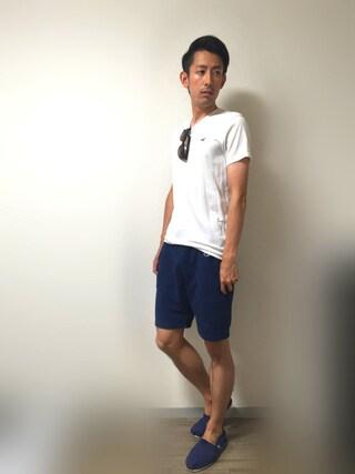 「【Champion】MENS REVERSE WEAVE SHORT PANT(Champion)」 using this Masa looks