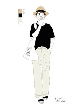 mone✳さんの「オリジナル ラフィアリボン中折れハット16SS【niko and...】(niko and...|ニコアンド)」を使ったコーディネート