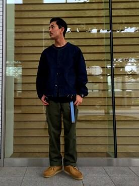 ビューティ&ユース ユナイテッドアローズ 金沢店|Shouya Kitayamaさんのブーツ「【別注】 <CLARKS(クラークス)> ∴ WALLABEE/シューズ(Clarks|クラークス)」を使ったコーディネート