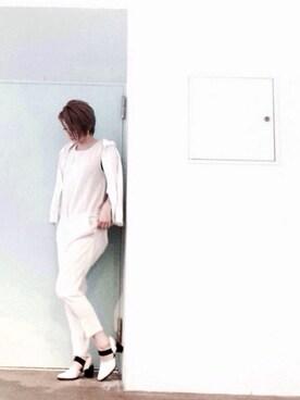 enchanted 本社|AZUさんの「本革ゴム付バックストラップパンプス(enchanted)」を使ったコーディネート