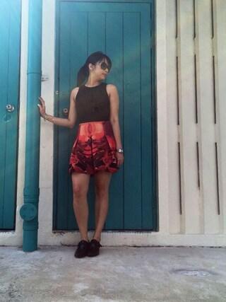 Crowd SG|MerlizaLimさんの「Covet Adelais Printed Skirt(Love, Bonito|ラブボニート)」を使ったコーディネート