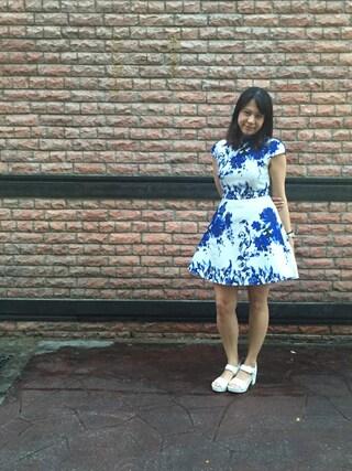 Crowd SG|MerlizaLimさんの「Covet Vionette Floral Flare Dress(Love, Bonito|ラブボニート)」を使ったコーディネート