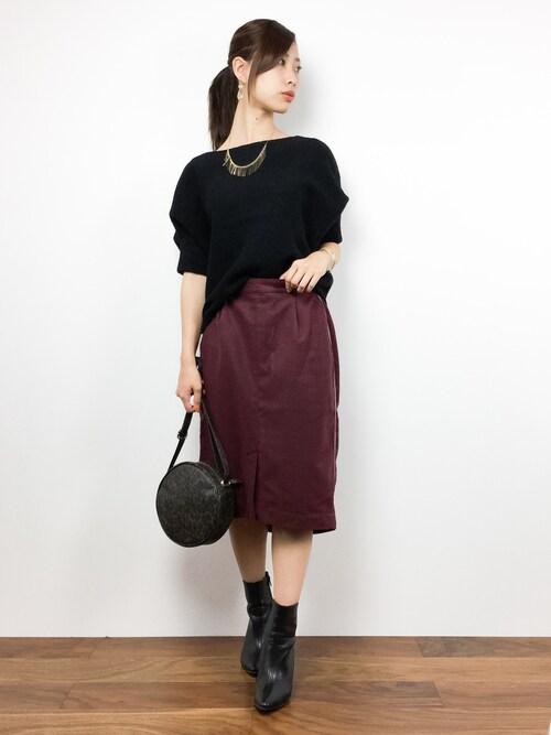 ZOZOTOWNKiiさんのスカート「サイドラインタイトスカート 738996(Heather ヘザー)」を使ったコーディネート