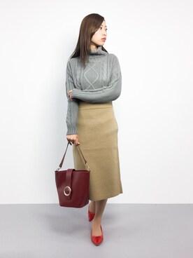 ZOZOTOWN|Kiiさんの「ファインメリノ セッケツスカート#(JOURNAL STANDARD|ジャーナルスタンダード)」を使ったコーディネート