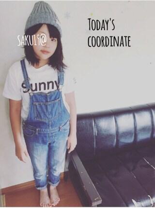 saku19@さんの「SUNNYロゴTシャツ(THE SHOP TK|ザ ショップ ティーケー)」を使ったコーディネート