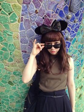 MIIA LUMINE EST新宿店|Haruka  Nakaniwaさんの(Disney)を使ったコーディネート