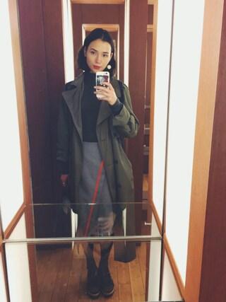 珠里亜さんの「neigh アシンメトリーラインスカート(ライチ|ライチ)」を使ったコーディネート
