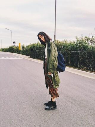 珠里亜さんの「Tiger Ruck Sack(KENZO|ケンゾー)」を使ったコーディネート