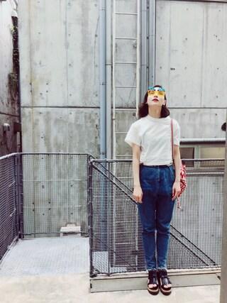 珠里亜さんの「【予約】<TOGA>CONCHO TEE-united LOVE project2016 †(TOGA PULLA|トーガ プルラ)」を使ったコーディネート