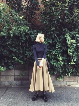 珠里亜さんの「Dickies×k3&co. Flare Skirt(k3&co|ケイスリーアンドコ)」を使ったコーディネート
