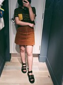 「FOREVER 21 Corduroy Lace-Up Mini Skirt(Forever 21)」 using this blablabamboochuck looks