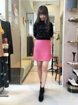 Lily Brown|erina sumitomoさんの「フラワー刺繍トップス(Lily Brown)」を使ったコーディネート