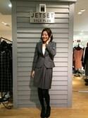 AMIさんの「【MARZOTTO】ヘリンボーンスーツ スカート(JETSET SOLO PLUS|ジェットセット ソロプラス)」を使ったコーディネート