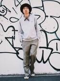 「Polo Ralph Lauren Cotton-Blend Jersey Sweatshirt(Polo Ralph Lauren)」 using this OLTA_Yusei Sasayama looks