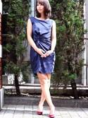 momokaさんの「【結婚式・お呼ばれ対応・パーティードレス】Diamond  アシンメトリードレープワンピース(Dorry Doll ドーリードール)」を使ったコーディネート