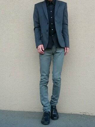 ゆうさんの「【SPECIAL PRICE】STUDIOUS DRESS ウールジャケット MADE IN JAPAN(STUDIOUS|ステュディオス)」を使ったコーディネート