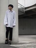 「Raf Simons Slim-Fit Wool Trousers(Raf Simons)」 using this iz looks