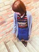 「FOREVER 21 contemporary denim skirt(Forever 21)」 using this ❣ⓚⓘⓚⓘ ❣ looks