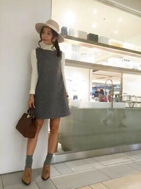 MERCURYDUO|三上 優奈さんの「【DUO】 リブタートル袖折り返しKT(MERCURYDUO)」を使ったコーディネート