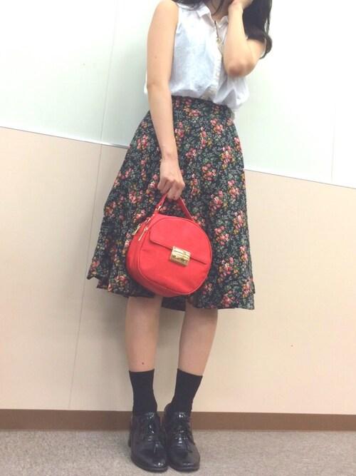 ぢんちゃんさんの「Flower flare SK(MOUSSY)」を使ったコーディネート