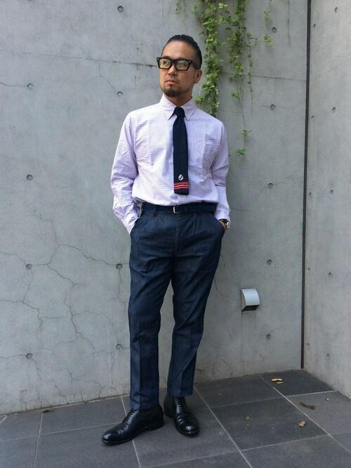 KOBAYASHIさんの「TATTERSALL CHECK B.D SHIRT:チェックシャツ(The DUFFER of ST.GEORGE)」を使ったコーディネート