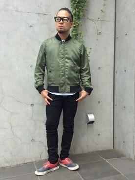 DUFFER 渋谷店|KOBAYASHIさんの「DUFFER×LEE STRETCH SKINNY DENIM:LEEスキニーデニム(The DUFFER of ST.GEORGE)」を使ったコーディネート