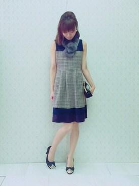 Rose Tiara|eikoさんの「あったか可愛い♪レッキスファーティペット(Rose Tiara)」を使ったコーディネート