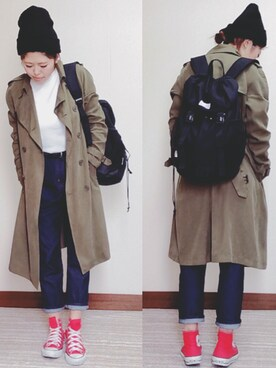 H A L .さんの「STANDARD CASQUETTE(MOUSSY)」を使ったコーディネート